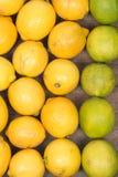 Ώριμοι οργανικοί ασβέστες και λεμόνια Στοκ Φωτογραφία