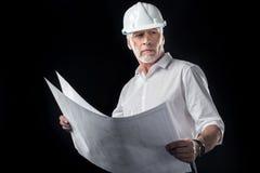 Ώριμος αρσενικός αρχιτέκτονας στοκ εικόνα με δικαίωμα ελεύθερης χρήσης