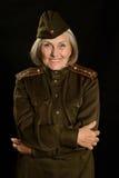 Ώριμος θηλυκός στρατιώτης Στοκ φωτογραφία με δικαίωμα ελεύθερης χρήσης