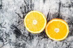 Ώριμος φρέσκος πορτοκαλής στενός επάνω Στοκ Φωτογραφίες