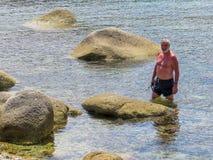Ώριμο άτομο στις διακοπές Στοκ Εικόνες