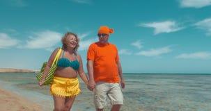 Ώριμο ζεύγος στις διακοπές απόθεμα βίντεο