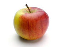 Ώριμο κόκκινος-κίτρινο μήλο Στοκ φωτογραφία με δικαίωμα ελεύθερης χρήσης