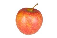 Ώριμο κόκκινο μήλο που απομονώνεται στο λευκό Στοκ Εικόνες