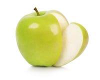 Ώριμο μήλο με το μίσχο Στοκ φωτογραφία με δικαίωμα ελεύθερης χρήσης