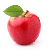 Ώριμο μήλο με το φύλλο Στοκ Φωτογραφία