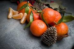Ώριμο πορτοκαλί tangerine γαρίφαλο Στοκ Εικόνα
