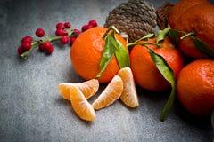 Ώριμο πορτοκαλί tangerine γαρίφαλο Στοκ Φωτογραφία