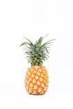 Ώριμο comosus ανανάδων ανανά στα άσπρα τρόφιμα φρούτων ανανά υποβάθρου υγιή που απομονώνονται στοκ εικόνα