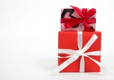 δώρο κιβωτίων που απομονώ&n Διάστημα για το κείμενο Στοκ Εικόνα