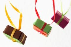 δώρο τρία κιβωτίων Στοκ φωτογραφία με δικαίωμα ελεύθερης χρήσης