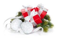 δώρο τρία σχεδίου Χριστουγέννων καρτών κιβωτίων Στοκ Εικόνα
