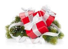 δώρο τρία σχεδίου Χριστουγέννων καρτών κιβωτίων Στοκ Φωτογραφίες