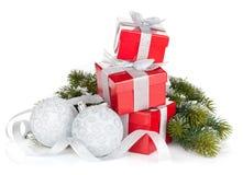 δώρο τρία σχεδίου Χριστουγέννων καρτών κιβωτίων Στοκ Εικόνες
