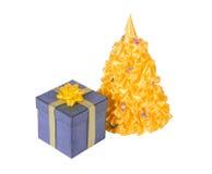 Δώρο Χριστουγέννων, χριστουγεννιάτικο δέντρο Στοκ φωτογραφίες με δικαίωμα ελεύθερης χρήσης