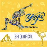 Δώρο certificate_1 γιόγκας Στοκ εικόνα με δικαίωμα ελεύθερης χρήσης