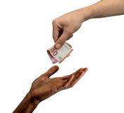 δώστε τα χρήματα Στοκ Φωτογραφίες