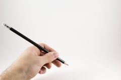 δώστε το μολύβι στοκ εικόνα