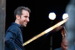 Аарон Голдберг, пианист с Иешуа Redman на джазовом фестивале Чарли Паркер в Манхаттане, 2017 стоковые фотографии rf