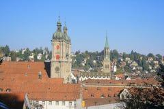 Аббатство и собор Sankt Gallen Стоковое Изображение RF
