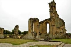 Аббатство Byland, средневековые исторические руины стоковое фото
