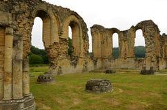 Аббатство Byland, средневековые исторические руины стоковые изображения rf