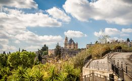 Аббатство Dormition в Иерусалиме, Израиле Стоковые Изображения RF