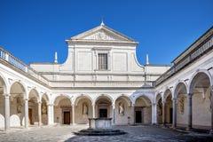 Аббатство Montecassino Лацио, Италия Стоковая Фотография RF
