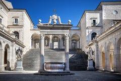 Аббатство Montecassino Лацио, Италия Стоковые Изображения