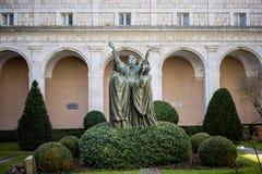 Аббатство Montecassino Лацио, Италия Стоковое фото RF