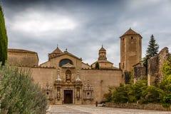Аббатство Poblet в Испании стоковые изображения rf