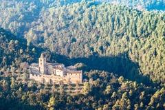 аббатство San Cassiano, Narni, Италии стоковые фотографии rf