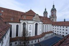Аббатство St Gallen на Швейцарии стоковые фотографии rf