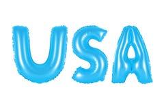 Аббревиатура США, Соединенные Штаты Америки, голубой цвет Стоковые Фотографии RF