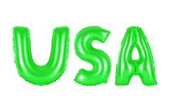 Аббревиатура США, Соединенные Штаты Америки, зеленый цвет Стоковая Фотография