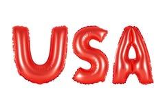 Аббревиатура США, Соединенные Штаты Америки, красный цвет Стоковое фото RF