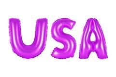 Аббревиатура США, Соединенные Штаты Америки, фиолетовый цвет Стоковые Фото