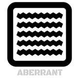 Аберрантный схематический графический значок иллюстрация вектора