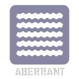 Аберрантный схематический графический значок иллюстрация штока