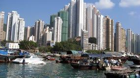 Абердин Гонконг стоковые изображения rf