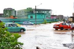 Абиджан затопляет/внеочередное заседание на ратуше Cocody вчера: Мольба ` s мэра Стоковое Фото