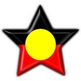 аборигенная австралийская звезда формы флага кнопки Стоковое Изображение