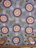 Аборигенная настенная роспись Стоковое фото RF