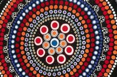 Аборигенное искусство - Австралия Стоковая Фотография