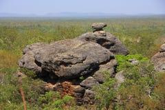 Аборигенное искусство утеса на национальном парке Kakadu, северных территориях, Австралии Стоковая Фотография RF