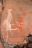 Аборигенное искусство утеса Стоковые Изображения RF
