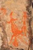 Аборигенное искусство утеса Стоковые Изображения