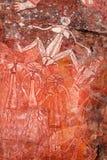 Аборигенное искусство утеса Стоковое Изображение RF
