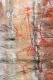 Аборигенное искусство утеса Стоковые Фотографии RF