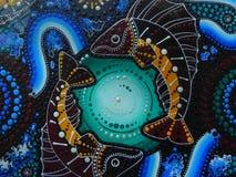 аборигенное искусство Стоковое фото RF